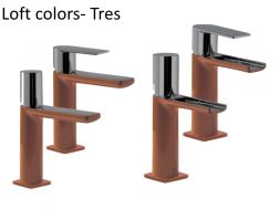Single lever washbasin mixer, loft Colors Tres, brown finish