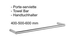 Towel Bar 400-500-600 mm: chrome finish cub-tres