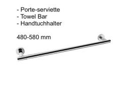 Towel Bar 480 / 580 mm: chrome finish