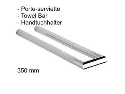 Double towel bar; 350 mm: chrome finish cub-tres