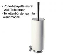 Wall Toiletbrush: chrome finish max-tres