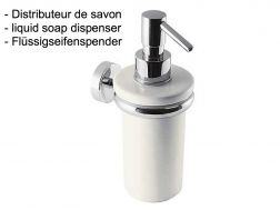 liquid soap dispenser wall holder: chrome finish cub-tres