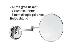 Cosmetic mirror; Ø 210 mm: chrome finish