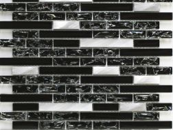 CRA015 - crackle glass, Mosaic glass tile 29,8x30,5 cm. Acqualine