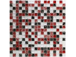 CRA017 - crackle glass, Mosaic glass tile 30x30 cm. Acqualine