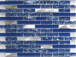 CRA020- crackle glass, Mosaic glass tile 29,8x30,5 cm. Acqualine