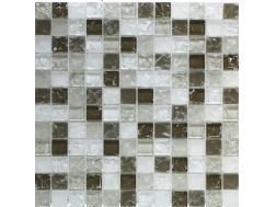 CRA022 - crackle glass, Mosaic glass tile 30x30 cm. Acqualine