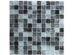 CRA024 - crackle glass, Mosaic glass tile 30x30 cm. Acqualine