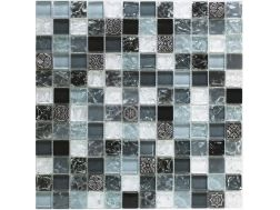 CRA025- crackle glass, Mosaic glass tile 30x30 cm. Acqualine