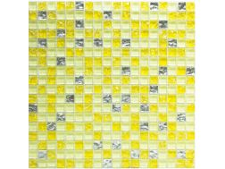 CRA027 - crackle glass, Mosaic glass tile 30x30 cm. Acqualine
