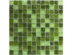 CRA030 - crackle glass, Mosaic glass tile 30x30 cm. Acqualine