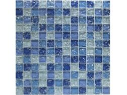 CRA032 - crackle glass, Mosaic glass tile 30x30 cm. Acqualine