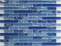 CRA033 - crackle glass, Mosaic glass tile 29,8x30,5  cm. Acqualine