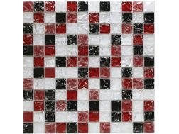 CRA016 - crackle glass, Mosaic glass tile 30x30 cm. Acqualine