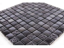 Tiles decorative mosaic bathroom for Carrelage metro noir mat