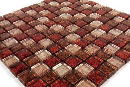 Verre Gl Mix Gold Leaf Mosaic Tile 30x30 Cm Mat Inter