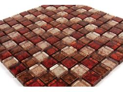 Verre GL Mix Gold Leaf, Mosaic glass tile 30x30 cm. Mat Inter