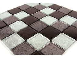 Verre GL Noir Gold Leaf 50x50, Mosaic glass tile 30x30 cm. Mat Inter