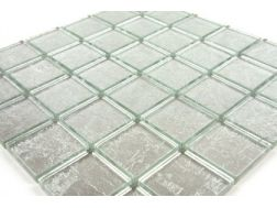 Verre GL Argent Gold Leaf 50x50, Mosaic glass tile 30x30 cm. Mat Inter