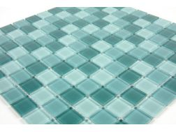 Basique, Mosaic glass tile 30x30 cm. Mat Inter