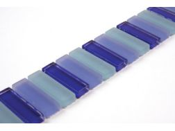 BATONS BLEU - Listello Tile glass Mosaic Borders.