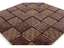 Mosaic tiles Gold Leaf  Quatar  tiles 5x5 cm