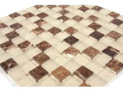 Mosaic tiles Glasstone brown , tiles  2,5x2,5 cm