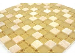 Mosaic tiles Glasstone honey, tiles  2,5x2,5 cm