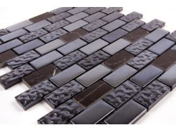 Mosaic tiles JDN 23 black , tiles  2,5x5 cm