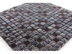Mosaic tiles JDN 15 black , tiles  1,5x1,5 cm