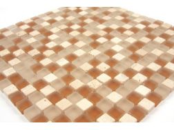 Mixture beige/caramel  Mosaic mixture tiles  1,5x1,5 cm