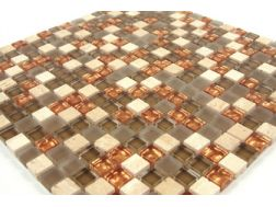 Mixture chocolate/copper  Mosaic mixture tiles  1,5x1,5 cm