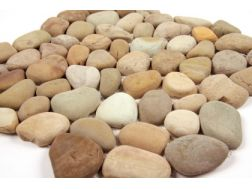 Natural pebbles, mosaic golden.  Mat Inter