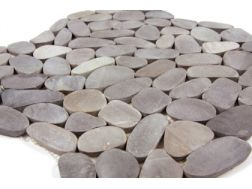 Pebbles rectified, Mosaic black light. Mat Inter