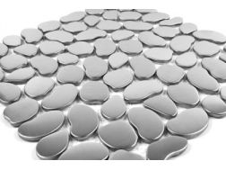 pebble mosaic brushed stainless steel money. Mat Inter