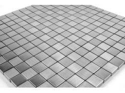 Mosaic Tile Brushed Stainless Steel 20x20 cm. Mat Inter