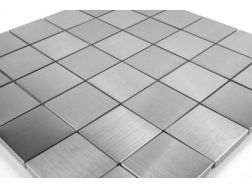 Mosaic Tile Brushed Stainless Steel 50x50 cm. Mat Inter