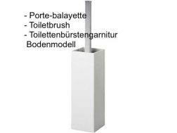 Toiletbrush: chrome finish cuadro-tres