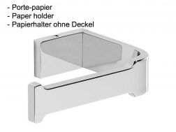 Paper holder WC without cover: chrome finish loft-tres