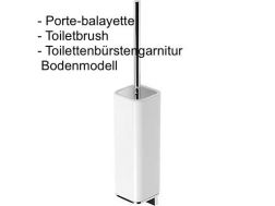 Wall Toiletbrush: chrome finish loft-tres