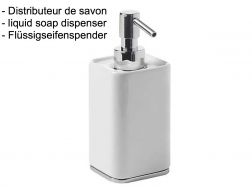 Liquid soap dispenser: chrome finish loft-tres