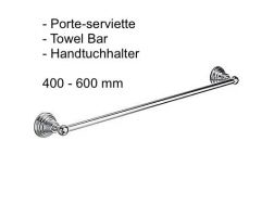 Towel Bar 400-600 mm: chrome finish RETRO-TRES