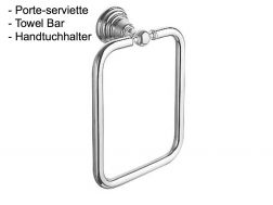 Square Towel Holder: chrome finish RETRO-TRES