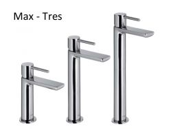 Single lever washbasin mixer; with base extension: chrome finish, Max-Tres