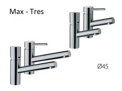 Single lever washbasin mixer; long spout: chrome finish, lever, max-tres