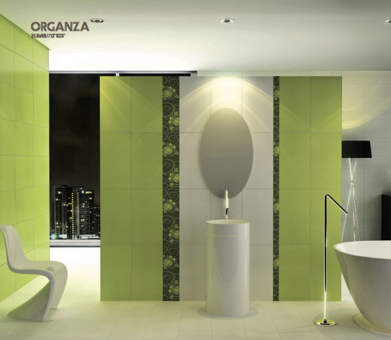 tiles mural d co organza pistacho listel prints wall