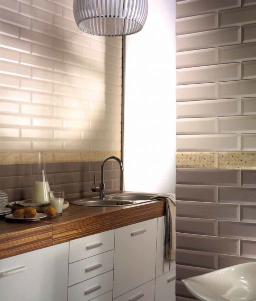 tube antracita brillo 75x30 cm subway tiling wall tiling metro - Faience Metro
