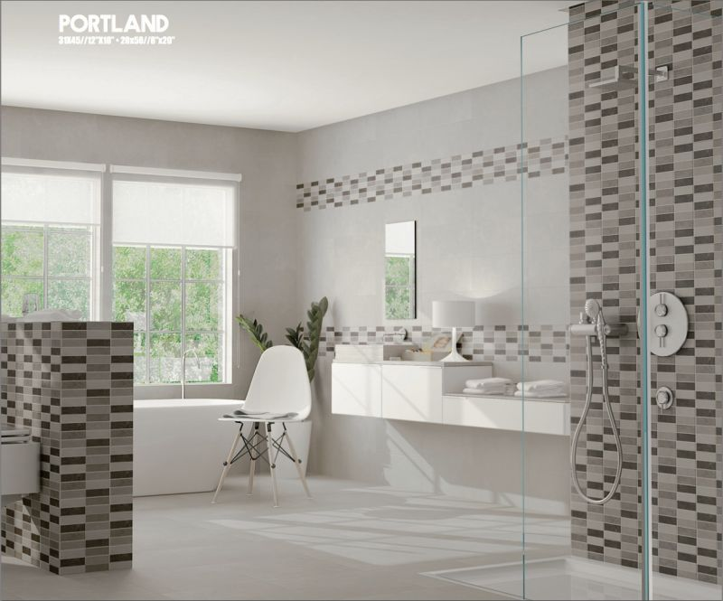 tiles mural portland 20x50 cm wall tiles bathroom earthenware. Black Bedroom Furniture Sets. Home Design Ideas