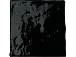 MANISES NEGRO Brillo 13X13 cm, wall, tiled tiled jagged edges