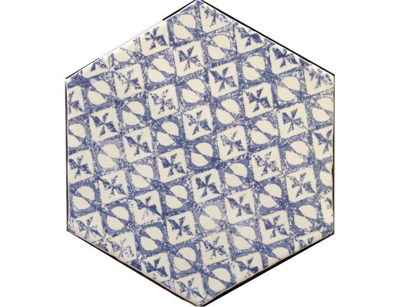 hexagon marrakech azul mosaico 15x15 cm hexagonal tile kitchen jagged edges